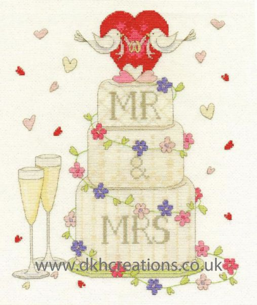 Wedding Congratulations Sampler Cross Stitch Kit